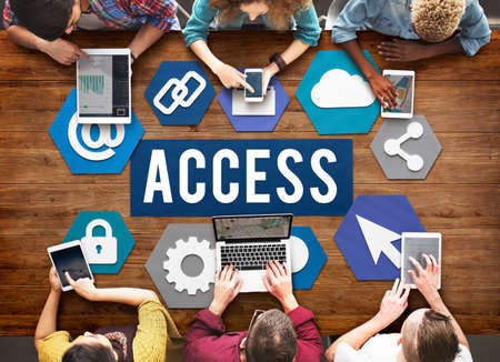 available: Access Available Usable Accessability Concept Stock Photo