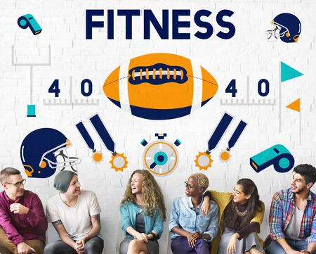 defensive: League Sport Fitness Exercise Training Teamwork Winner Concept