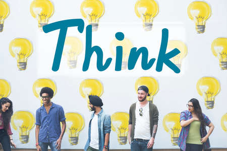 thoughful: Think Thinking Thoughful Inspiration Attractive Concept Stock Photo