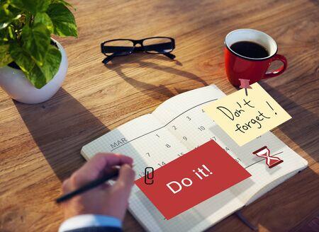 Do It Note Calendar Planner Concept
