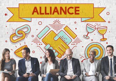 Alliance équipe Ensemble Collaboration Partenariat Concept Banque d'images