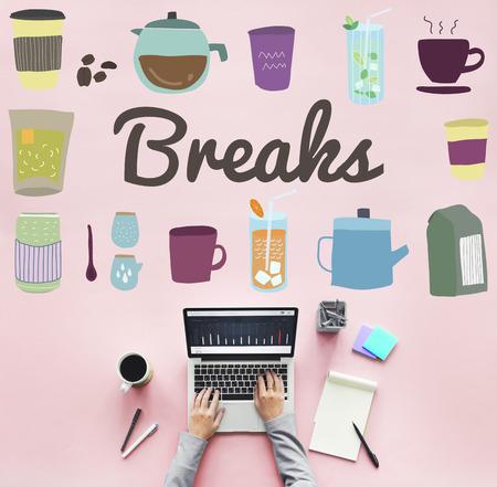 breaks: Breaks Pause Relaxation Rest Stop Cessation Concept