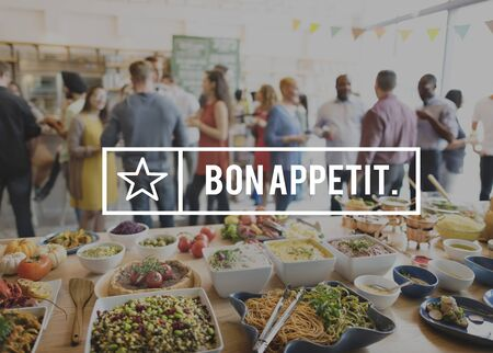 bon: Bon Appetit Delicious Tasty Catering Cuisine Culinary Concept Stock Photo