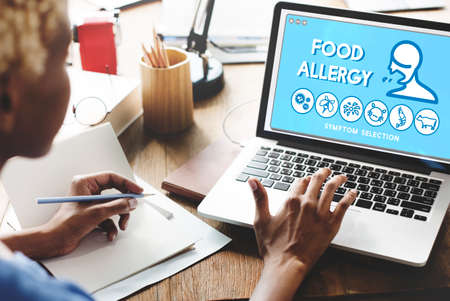 food allergy: Food Allergy Disorder Sickness Healthcare Concept