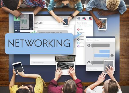 diversity domain: Networking Computer System Conneciton Social Concept Stock Photo