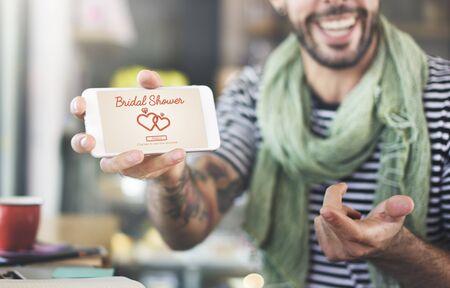 despedida de soltera: Ducha nupcial del fiesta de Bachelorette de la celebraci�n matrimonio concepto