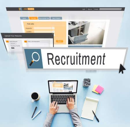 vacancy: Recruitment Job Work Vacancy Search Concept