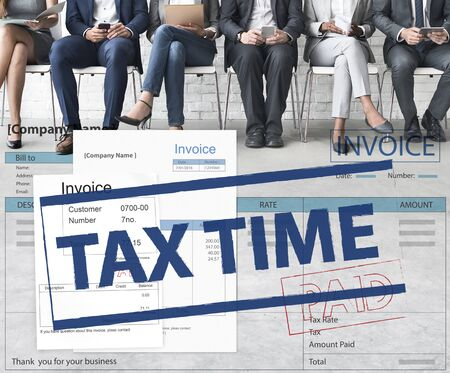 account executive: Payment Received Taxation Tax Time Concept
