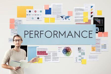accomplishment: Performance Accomplishment Fulfilment Concept Stock Photo