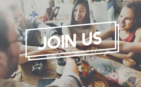 participate: Join Us Joining Membership Participate Concept