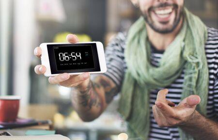 Uhr Dauer Zeit Freizeit-Stunde-Konzept