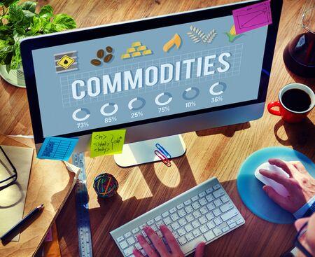 commodities: Commodities Demand Distribution Economy Concept
