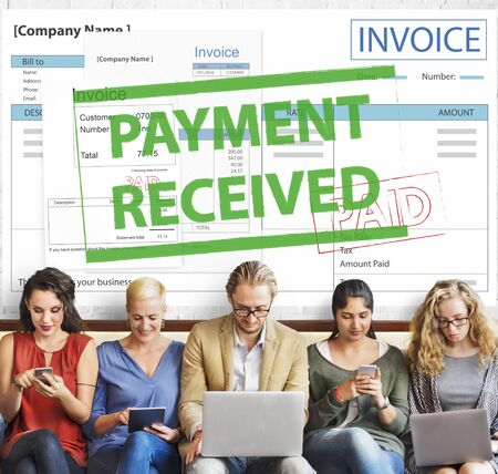 received: Payment Received Taxation Tax Time Concept