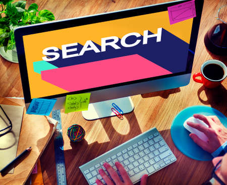 seeking: Search Engine Optimisation Finding SEO Seeking Concept Stock Photo