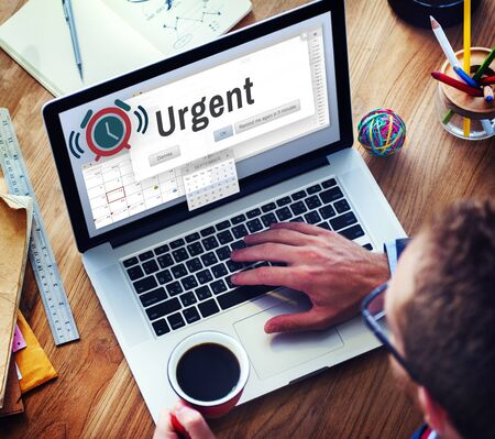 necessary: Urgent Necessary Important Immediately Urgency Priority Concept