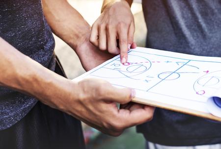 Basketball Player Sport Game Plan Tactics Concept Stock Photo