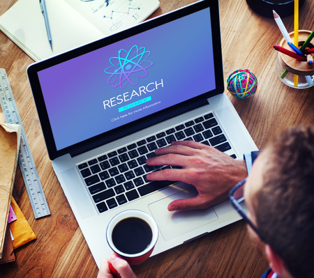 discovery: Research Discovery Education Information Concept Stock Photo