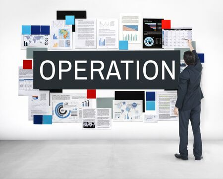 operative: Operation Effective Functional Operate Viable Concept Stock Photo
