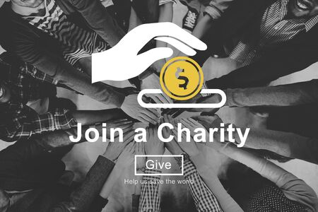 black empowerment: Join Charity Give Money Concept