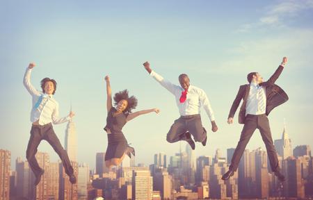fun activity: Business People Success Achievement City Concept Stock Photo