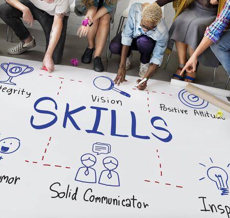 skills diversity: Skills Intelligence Job Occupation Recruitment Concept