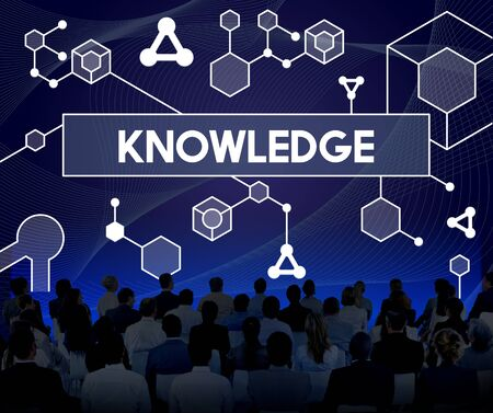 familiarity: Knowledge Particles Geometry Shapes Graphics Concept Stock Photo