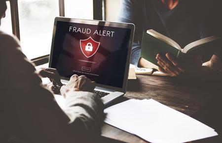 deception: Fraud Scam Phishing Caution Deception Concept Stock Photo