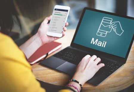 Tecnología de correo electrónico de correo electrónico concepto gráfico Foto de archivo