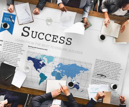 accomplishment: Success Accomplishment Achievement Victory Concept