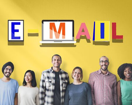 correspondence: Email Correspondence Communication Word Style Concept Foto de archivo