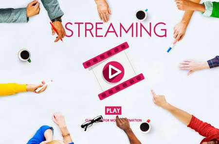 audio video: Streaming Audio Video Listening Multimedia Concept