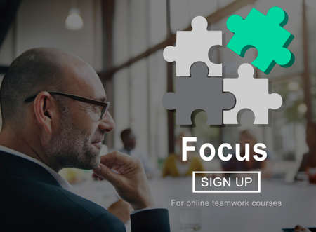 concentrate: Focus Clarity Concentrate Determine Goals Vision Concept