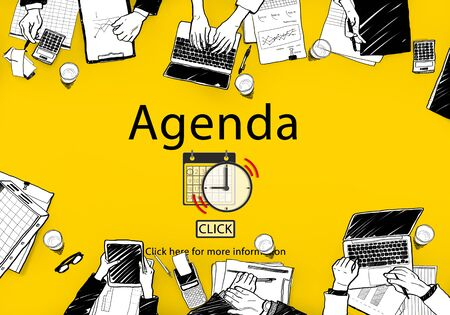 agenda: Agenda Appointment Activity Plan Concept