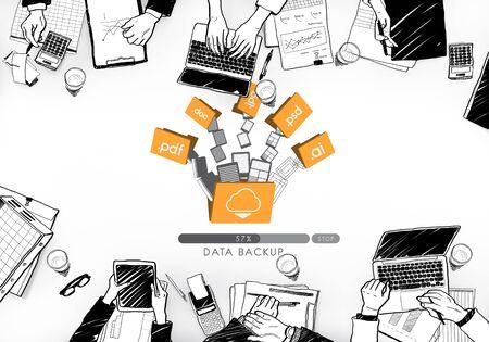 backup: Data Backup Files Online Database Storage Concept