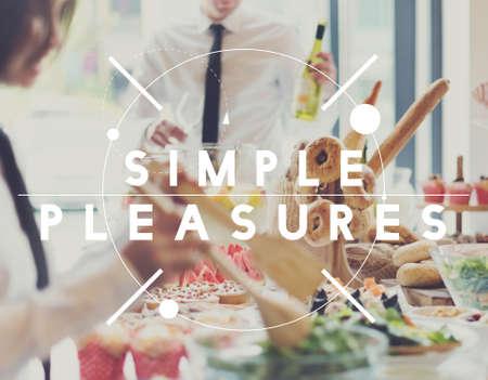 desire: Simple Pleasures Enjoyment joyful Desire Delight Concept