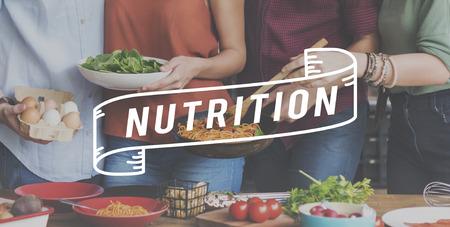 nourishment: Nutrition Healthy Life Nourishment Food Eating Concept