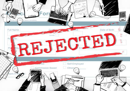 rejected: Declined Rejected Disagreement Rejection Concept