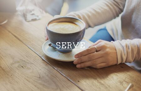 serve: Welcome Hospitality Guest Treat Serve Concept Stock Photo
