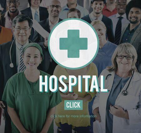 institution: Hospital Clinic Health Institution Medicine Care Concept Stock Photo