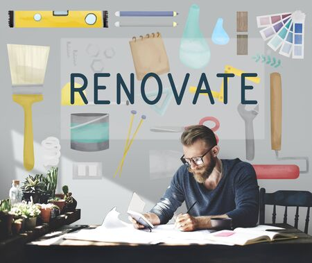 decorating: Renovate Decorating Construction Composition Concept