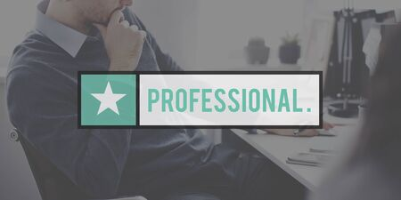 proffessional: Proffessional Business Person Skiled White Collar Worker Concept