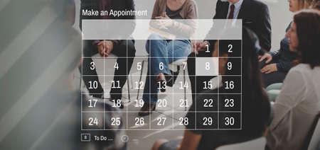 agenda: Calendar Agenda Appointment Schedule Concept Stock Photo