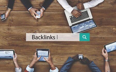 backlinks: Backlinks Blogging Connection Hyperlink Website Concept
