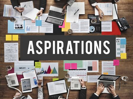 aspiration: Aspiration Ambition Dream Goal Hope Solution Concept Stock Photo