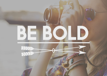 dare: Be Bold Courageousness Bravery Challenge Dare Concept