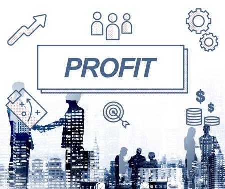 gain: Profit Business Financial Gain Graphic Concept