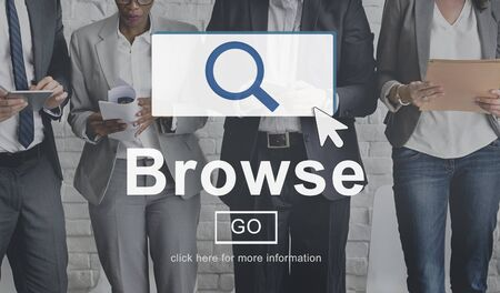 discover: Browse Searching Finding Discover Search Browsing Concept