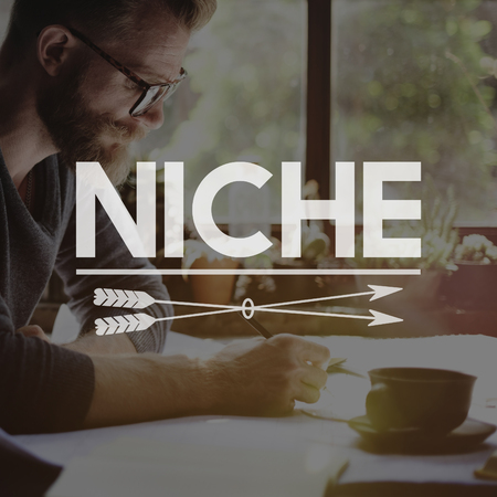 Niche concept with a man in background Stock Photo