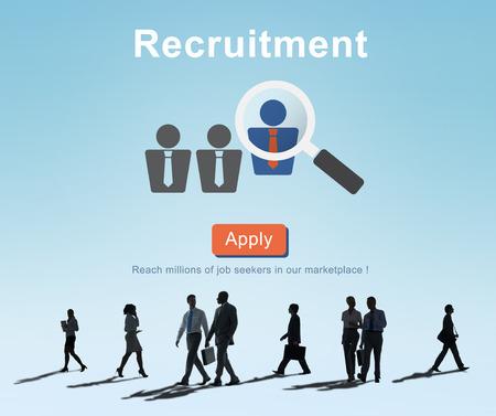 채용 채용 채용 인적 자원 개념 스톡 콘텐츠