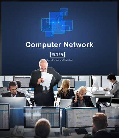 hectic: Computer Network Technology Online Website Concept
